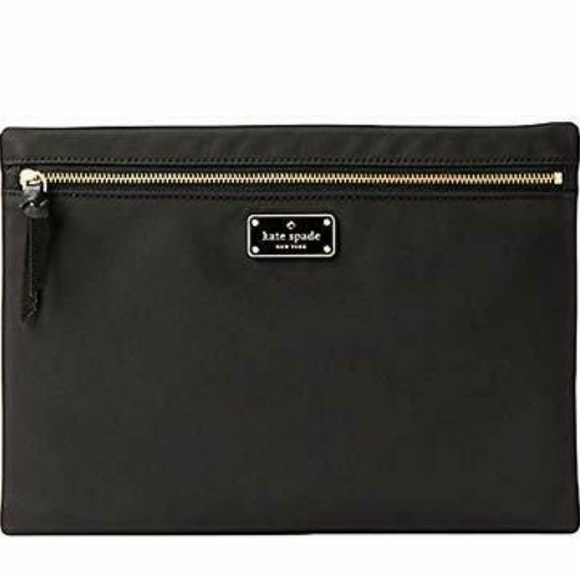 buy popular 9f17e a5baf Kate Spade Large Drewe Nylon pouch Cosmetic bag NWT